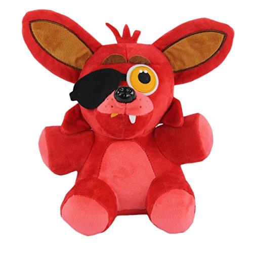 TalentPZ eco-friendly Halloween Christmas Birthday Gift Children Kids Five Nights at Freddys Stuffed Puppet Dolls Plush Toys Rabbit Red Height25cm  985£