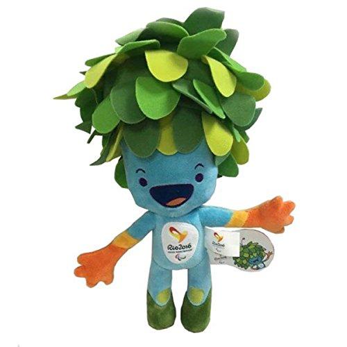 TalentPZ eco-friendly Halloween Christmas Birthday Gift Children Kids Plush Toys Rio Olympics Stuffed Puppet Mascot Blue Height30cm  1182£