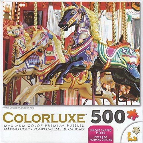 Colorluxe 500 Piece Puzzle - Fun Fair Carousel