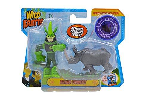 Wild Kratts Toys Animal Power Action Figure Set - Rhino Power