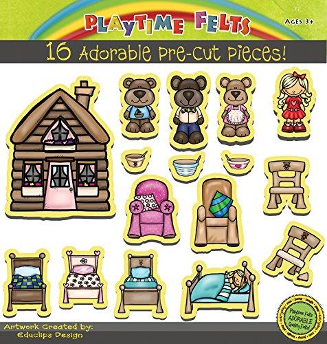 Goldilocks and Three Bears Felt Board Story Set - Precut by Playtime Felts