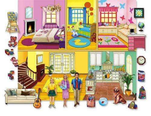 Lets Play House Doll Felt Set 20 Felt Figures Flannelboard Case