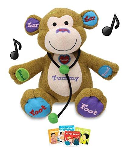 Bundle Plush in a Rush Learning Musical Animated Plush Monkey and 4 Mini Board Books
