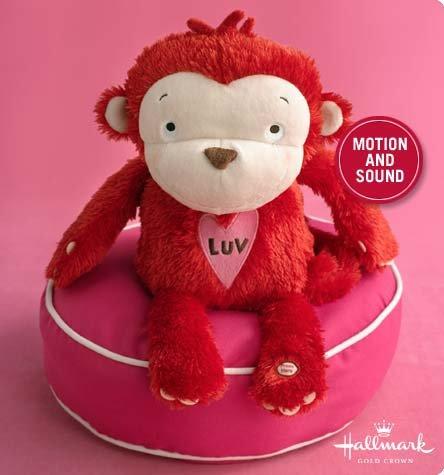 Hallmark Luv Monkey 12 Animated Plush