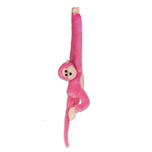 Sunward Cute Soft Screech Hang Plush Monkey Gibbons Toy Dolls Birthday Xmas Gift Pink