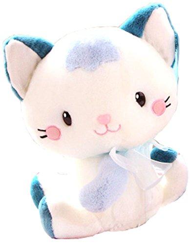 Cute Blue Cat Dolls Kitten Plush Toys Creative Birthday Gift 35CM