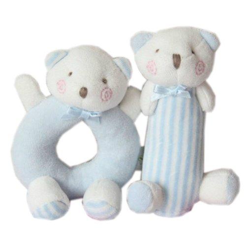 Cute Baby Stuffed Animals Infant Toys Toddler Plush Toys Bears Set BLUE