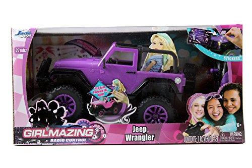 Jada Toys GIRLMAZING Big Foot Jeep RC Vehicle 116 Scale Purple