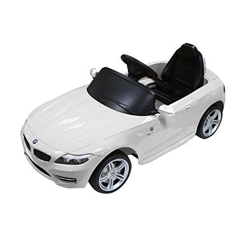 BMW Z4 Kids 6v Electric Ride On Toy Car w Parent Remote Control - White