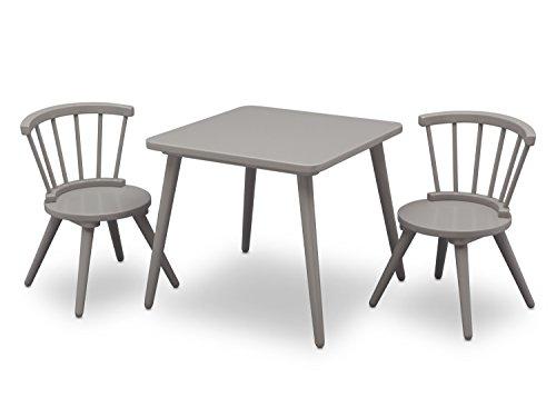 Delta Children Windsor Table 2 Chair Set Grey