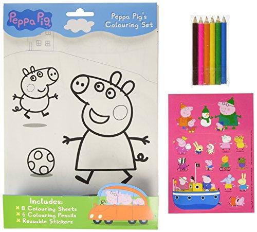 The Range Peppa Pigs Colouring Set
