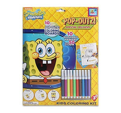 Spongebob Coloring Kit for Kids Featuring Pop-Outs for Play by SpongeBob SquarePants