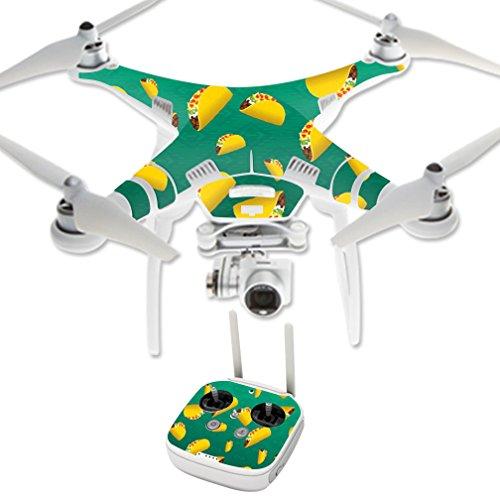 MightySkins Protective Vinyl Skin Decal for DJI Phantom 3 Professional Quadcopter Drone wrap cover sticker skins Tacos