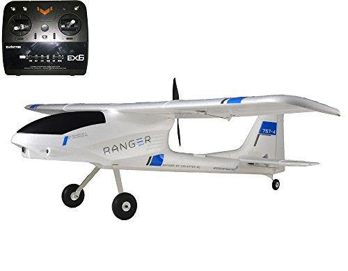 6CH 24Ghz 14M Ranger FPV training Glider Plane 757-4 Airplane RTF wBrushless Motor RC BatteryCharger
