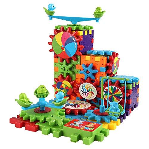 Arshiner Interlocking Learning Block Bricks Electric Gear 81 PCS Building Toy Set