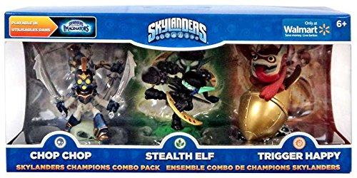 Skylanders Imaginators Exclusive Champions Combo Pack Chop Chop Stealth Elf and Trigger Happy