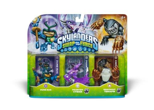Skylanders SWAP Force Triple Character Pack Dune Bug Phantom Cynder Knockout Terrafin