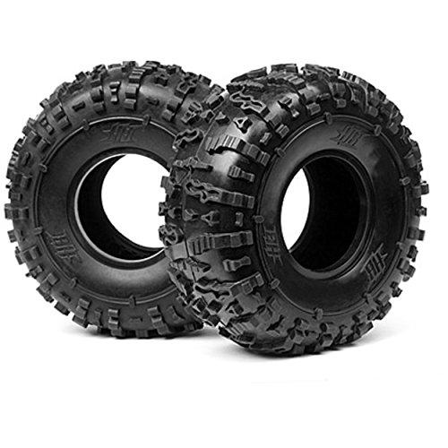 Hot Bodies 67772 Rover Tire - Rock Crawler 2 Pieces White