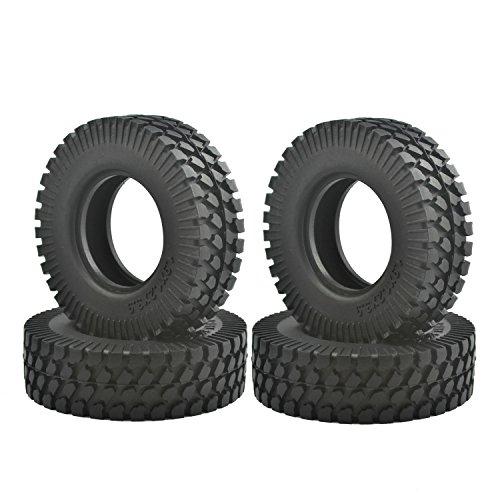 LAFEINA 110 RC Climbing Rock Crawler Tires for RC Car Tamiya D90 SCX10 CC01 19 Inch Wheels