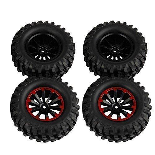 Yiguo 4pcs 19 96mm RC Crawler Tires and 10 Spoke Wheel Rims 12mm Hex Hub for 110 RC Crawler Buggy Car