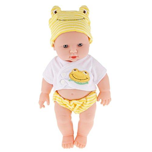 Realistic Silicone Baby Doll Vinyl Lifelike Baby Boy in Yellow Top Pants
