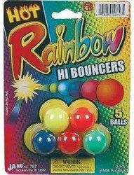 Rainbow Hi Bounce Balls 5Pk