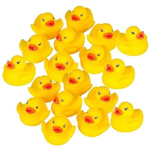 10-set Cute Mini Yellow Rubber Bath Toy Bath Ducks for ChildParty Toys