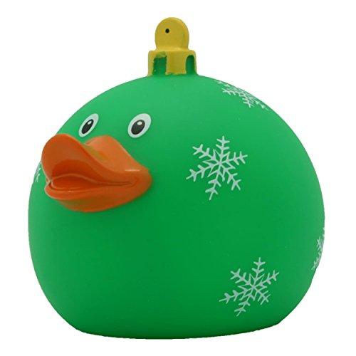 Bath Duck Christmas Bauble Duck Green Rubber Duck Squeaky Toy Bath Toy Duck Squeaky Duck Collectible Figure Rubber Bath Toy LiLaLu 1972