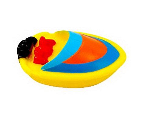 Set of 4 BEST Bathtup Toys for BabyToddlerKidMini Rubber Bath ToySpeedboat