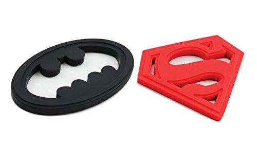 Bumkins - DC Comics Silicone Teether Combo Pack - Superman Batman