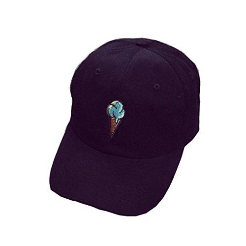 Iuhan Ice Cream Cotton Baseball Cap Boys Girls Snapback Hip Hop Flat Hat
