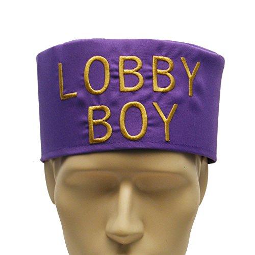 Lobby Bell Boy Purple Costume Hat