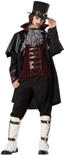 InCharacter Costumes Boys Steampunk Vampire Costume BlackRed X-Large