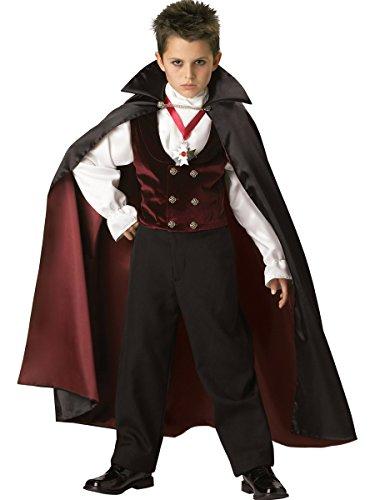 InCharacter Costumes Boys 2-7 Gothic Vampire  Costume BlackBurgundy 6