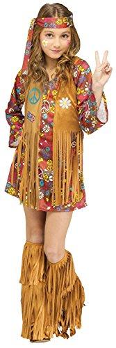 Child Peace Love Hippie Costume Large 12-14