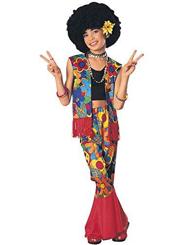 Girls Flower Power Hippie Costume LARGE