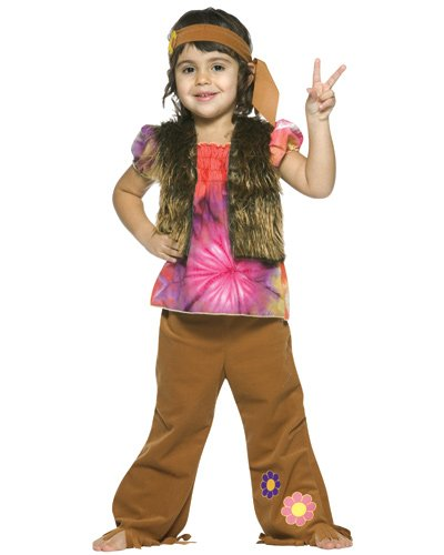 Toddler Little Hippie Girl Costume by Rasta Imposta - Size Toddler 3T-4T