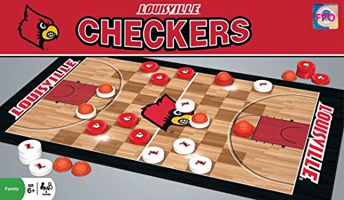 NCAA Louisville Cardinals Basketball Checkers Board Game