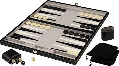 Mainstreet Classics 18-Inch Backgammon Board Game Set