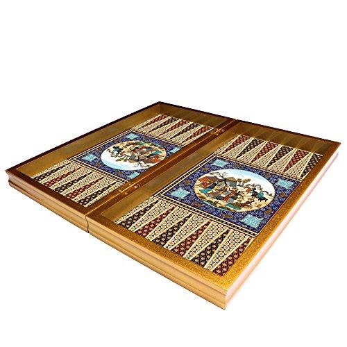 The 19 Ottoman Design Backgammon Board Game Set