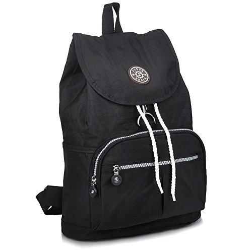 ZYSUN Fashion Travel School Backpacks LightWeight Bag for College Girls Womens604black