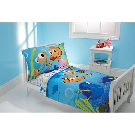 Disney Nemo 3-Piece Toddler Microfiber Bedding Set with BONUS Matching Pillow Case