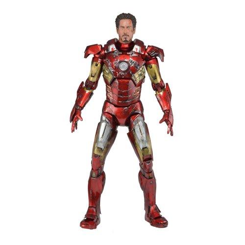 NECA Avengers Battle Damaged Iron Man Action Figure 14 Scale
