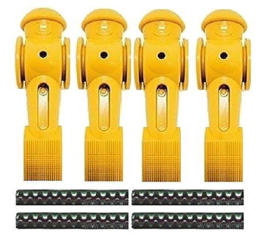 4 Yellow Tornado Foosball Men Counter Balanced Pin