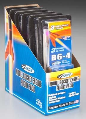Estes 7963-1 B6-4 Flight Pack Model Rocket Motor