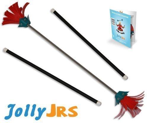 Black Jolly Jrs Beginner Juggling Sticks