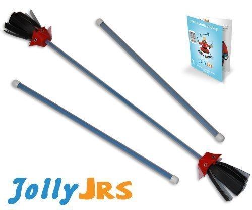 Blue Jolly Jrs Youth Beginner Juggling Flower Sticks