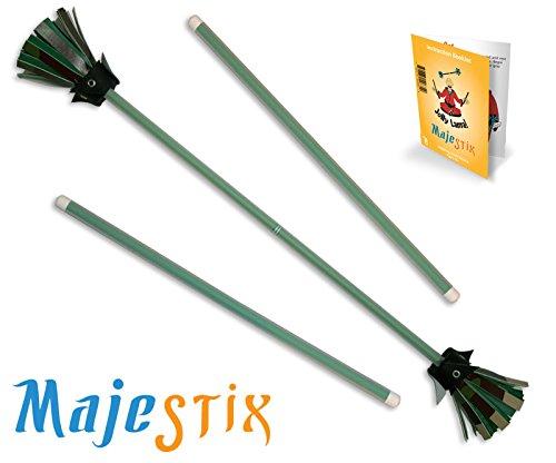 Green Majestix Juggling Sticks Devil Sticks