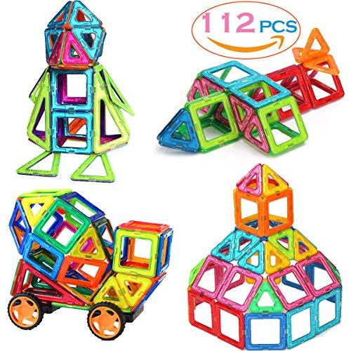 SASRL Magnetic Blocks Toys Educational Building Tiles Blocks Stack Toys Set -112PCS