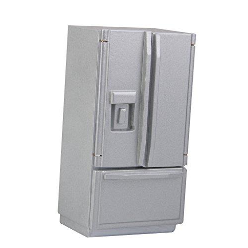 112 Dollhouse Miniature Furniture Fridge Refrigerator Silver